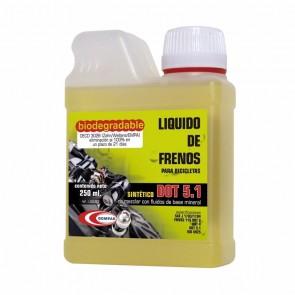 LIQUIDO DE FRENOS BOMPAR BIODEGRADABLE  DOT 5.1 - 250 ML