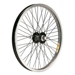 Rueda Trasera . BMX 20x2.125  Alum. EJE 9.5   36R