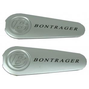 Piezas para bielas Bontrager Satellite. Par tapas de pernos. Plata